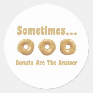 Donut Humor Classic Round Sticker