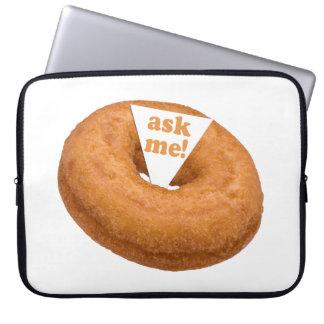 Donut Humor custom laptop sleeve