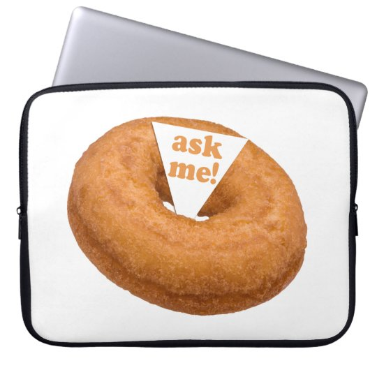 Donut Humor custom laptop sleeve