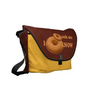 Donut Humor custom messenger bag