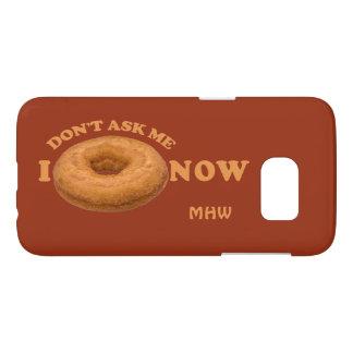 Donut Humor custom Smonogram phone cases