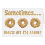 Donut Humor Greeting Card