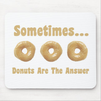 Donut Humor Mouse Pad