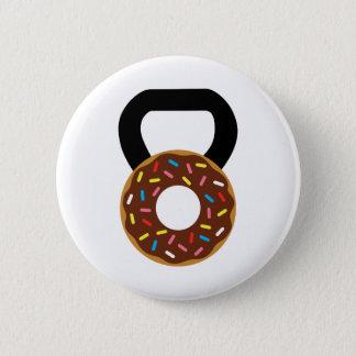 Donut Kettlebell Pinback Button
