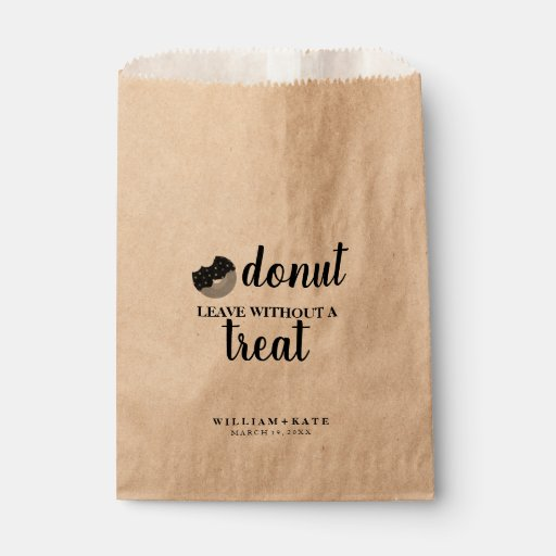 Donut Leave Without Treat Favor Bag