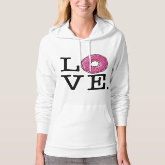 Donut Love Funny Food Hooded Pullover