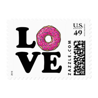 Donut Love Funny Food Postage
