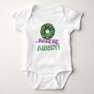 Donut Make Me Angry Funny doughnut Baby Bodysuit