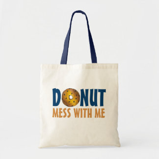 Donut Mess With Me Blueberry Doughnut Tote