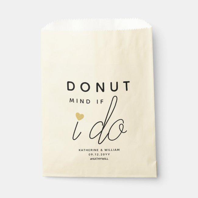 Donut Mind If I Do Custom Wedding Snack Favor Bag
