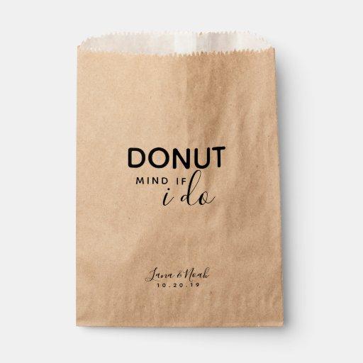 Donut Mind If I Do Wedding Treat Favors Favor Bag