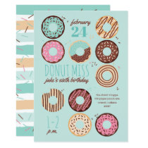 Donut Miss Boy's Donut Birthday Party Invitation