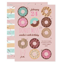 Donut Miss Girl's Donut Birthday Party Invitation