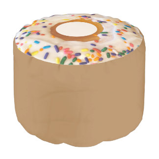 Donut Novelty Style Round Pouf