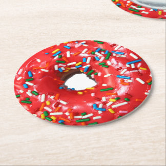 Donut Paper Drink Coasters Round Paper Coaster