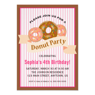 Donut Party for Child's Birthday Card