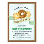 Donut Party for Child's Birthday Custom Invitations