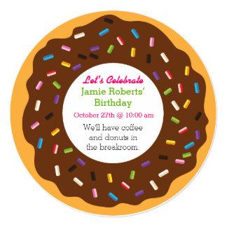 Donut Party Invites