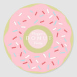 Donut Party Invitation Stickers