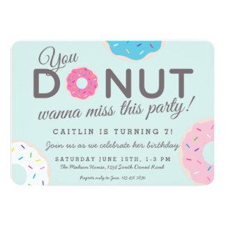 Donut Party Invitations | Donut Birthday Party
