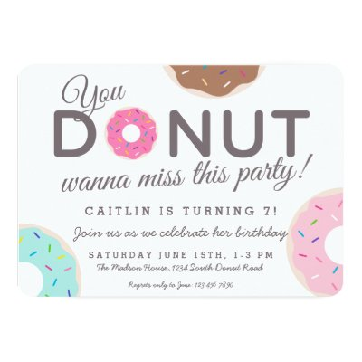 Cute Funny Donut Thank You Cards Zazzle Com