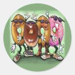 Donut Party Round Sticker