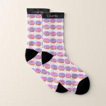 Donut Pattern custom name socks