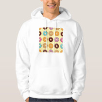 Donut Pattern on Yellow Hoodie