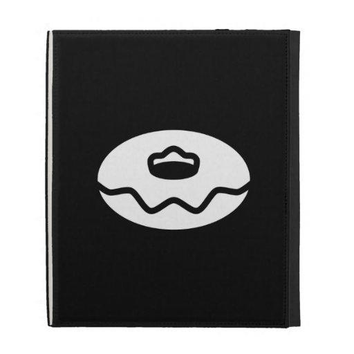 Donut Pictogram iPad Caseable Folio iPad Case