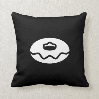 Donut Pictogram Throw Pillow