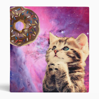 Donut Praying Cat Binder