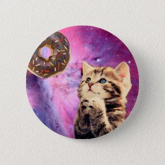 Donut Praying Cat Button