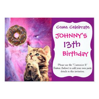 Donut Praying Cat Card