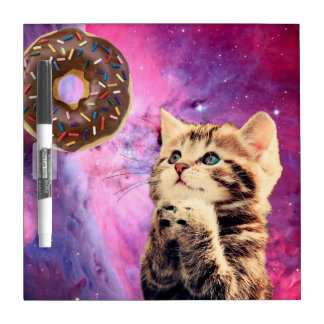 Donut Praying Cat Dry-Erase Board