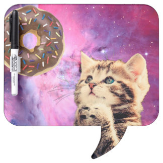 Donut Praying Cat Dry Erase Board