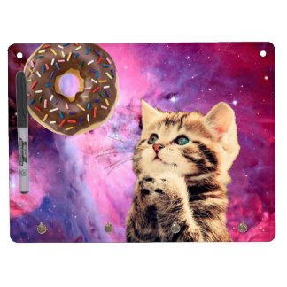 Donut Praying Cat Dry Erase Board With Keychain Holder
