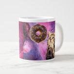 Donut Praying Cat Giant Coffee Mug