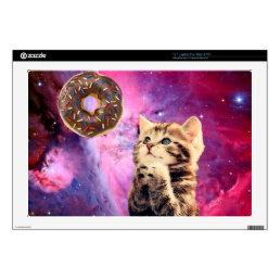 Donut Praying Cat Laptop Decals