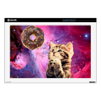 Donut Praying Cat Laptop Decals