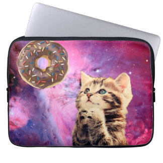 Donut Praying Cat Laptop Sleeve