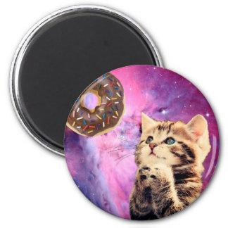 Donut Praying Cat Magnet