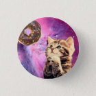 Donut Praying Cat Pinback Button