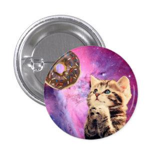 Donut Praying Cat Pinback Button