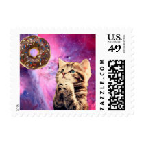 Donut Praying Cat Postage
