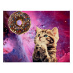 Donut Praying Cat Poster