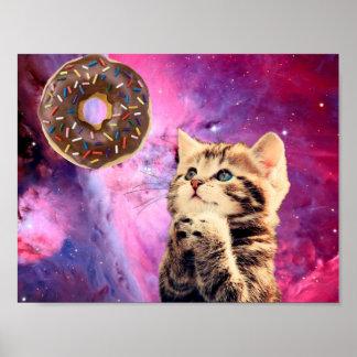 Donut Praying Cat Poster
