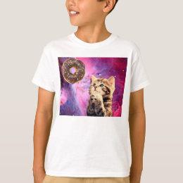 Donut Praying Cat T-Shirt