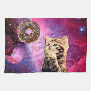 Donut Praying Cat Towel at Zazzle