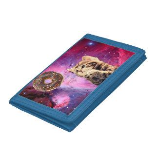 Donut Praying Cat Tri-fold Wallet