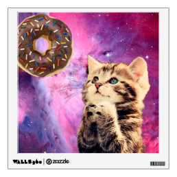 Donut Praying Cat Wall Decal